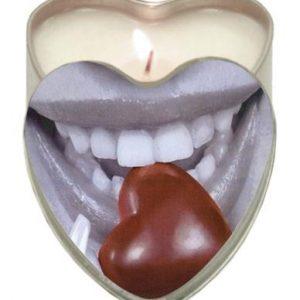Edible Heart Candle – Chocolate