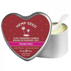 Earthly Body Candle 3 N 1 Heart Edible Private Party 4oz