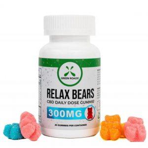 CBD Edibles 300mg Relax Gummies 30 Day Bottle