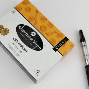 CBD Cartridge Kit 1ml (+ Vape Case, Charger, Battery) (250mg CBD) Citrus Flavour