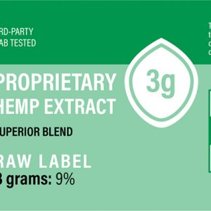 Hemp Extract (Green/Raw) 3g (270-360mg CBD) Unflavored