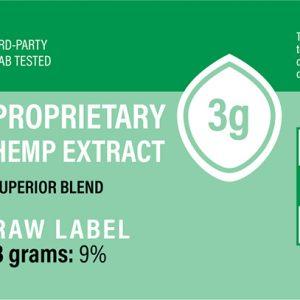 Hemp Extract (Green/Raw) 3g (270-360mg CBD) Unflavored