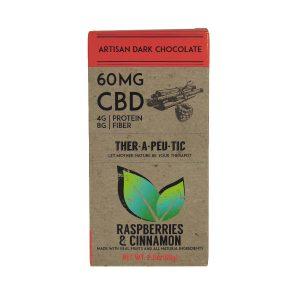 CBD Chocolate – Raspberry Cinnamon (Dark Chocolate) 2.5oz, 60mg CBD