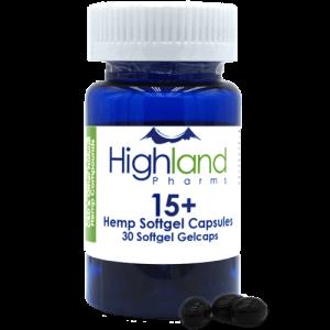 Highland Pharms 15  Hemp Softgel Capsules 15mg, 30ct