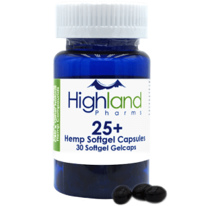 Highland Pharms 25  – Hemp Softgel Capsules 25mg, 30ct