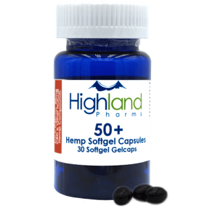 Highland Pharms 50  – Hemp Softgel Capsules 50mg -30ct