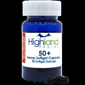 Highland Pharms 50  – Hemp Softgel Capsules 50mg -30ct