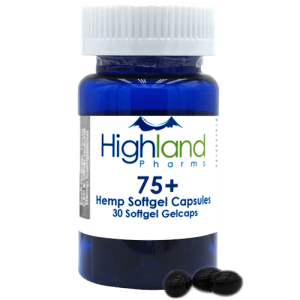 Highland Pharms 75  – Hemp Softgel Capsules 75mg -30ct