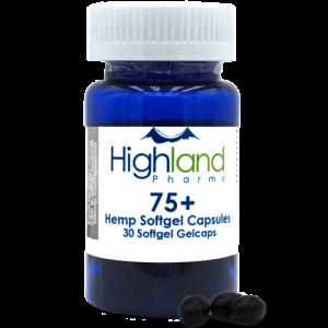 Highland Pharms 75  – Hemp Softgel Capsules 75mg -30ct