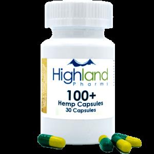 Highland Pharms 100  – Hemp Vegan Capsules 100mg -30ct