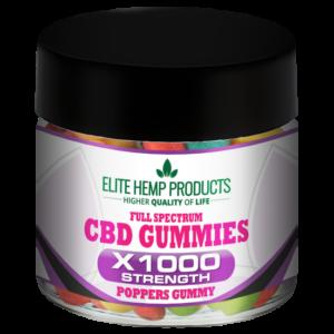 CBD Poppers Gummy x1000 Strength