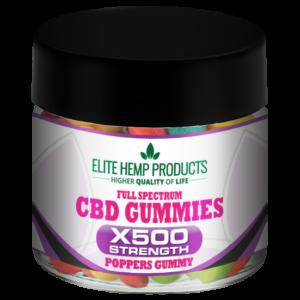 CBD Poppers Gummy x500 Strength