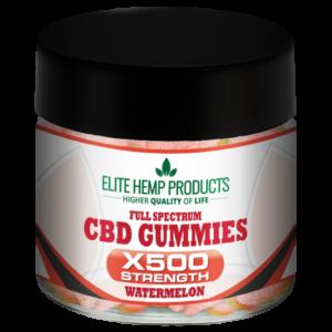 CBD Watermelon Gummy x500 Strength