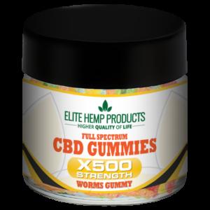 CBD Worm Gummy x500 Strength