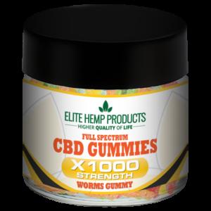 CBD Worm Gummy x1000 Strength