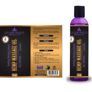 Hemp Massage Oil – Lavender