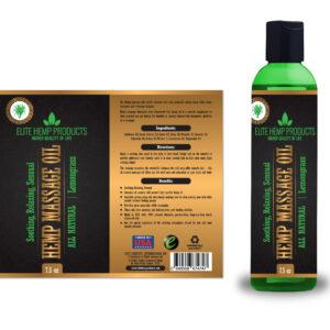 Hemp Massage Oil – Lemongrass