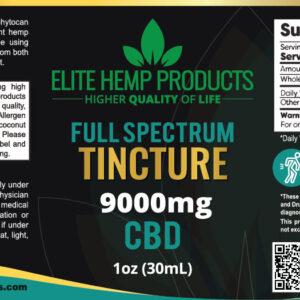 Elite CBD Tincture – 9000 mg