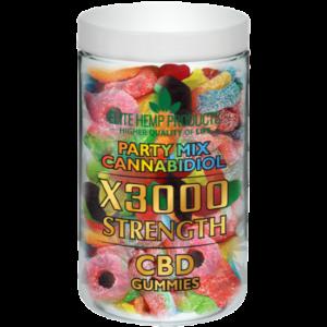 CBD Party Mix Gummies x3000 Strength