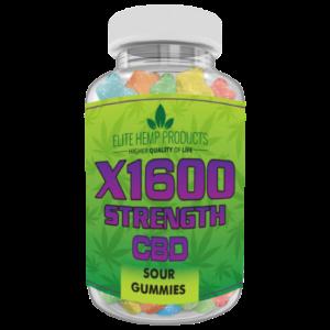 CBD Sour Gummy x1600 Strength